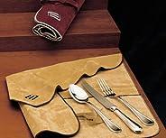 Set 77 pz. tavola - Panni per Posateria in Argento Antiossidanti (Bordeaux)