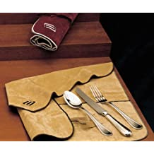 Set 77 pz. tavola - Panni per Posateria in Argento Antiossidanti (Beige)