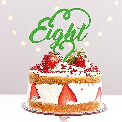 8huit Huitième 8e anniversaire de fête d'anniversaire anniversaire de mariage Acrylique gâteau