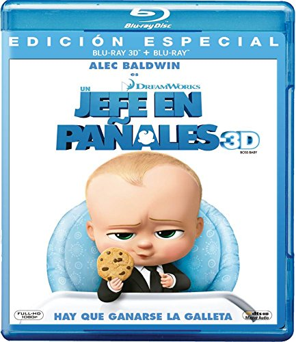 Un Jefe en Pañales 3D (BOSS BABY 3D) Blu-ray 3D + Blu-ray (English, Spanish & Portuguese Audio and Subtitles)