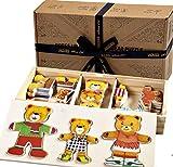 Jaques of London Bärenfamilie Puzzle für Kinder Holzspielzeug Anziehspiel - Perfektes Kleinkindspielzeug empfohlen Holzspielzeug für 2 bis 4-Jährige