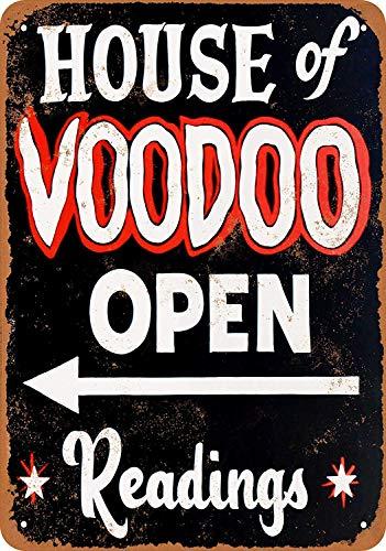 House Voodoo Open Metallwand Zeichen Blechschilder Warnung hängen Vintage Kunst Folie Poster Band Malerei Promi Bar Cafe Garten öffentliches Geschenk -