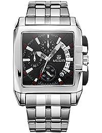 MEGIR Original Luxury Men Watch Stainless Steel Date Mens Quartz Watches Business Big Dial Wrist Watch