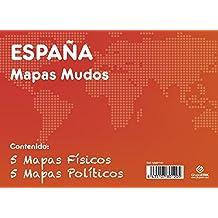 GRUPO ERIK EDITORES, S.L. - Pack mapas mudos es España 5+5 Grupo Erik blanco y celeste