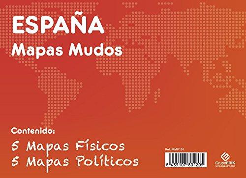 GRUPO ERIK EDITORES, S.L. - Pack mapas mudos es España