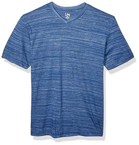 Lee Herren Short Sleeve Casual V Neck Regular Big Tall T-Shirt, Christian Cobalt, Groß -