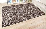 Kinderteppich Hot Stone - Farbe: Braun | versandkostenfrei schadstoffgeprüft und pflegeleicht | antistatisch schmutzresistent robust strapazierfähig | Flur Diele Eingang Küche Kinderzimmer Spielzimmer, Farbe:Braun, Größe:60 x 120 cm