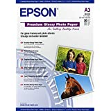 Epson Premium Glossy Photo Paper, A3, 297 x 420mm, 255 g/m2, 20 Sheets
