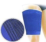 Vetrineinrete® Tutore per coscia coppia 2 Fasce elastiche in poliestere allevia dolori strappi muscolari supporto per sostegno cosce Sport Palestra Fitness 64836