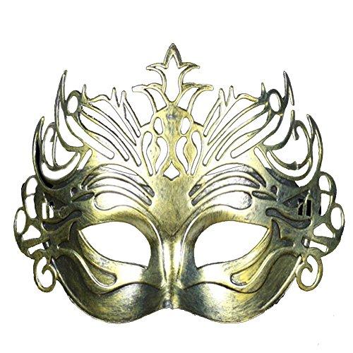 Petalum Unisex Ball Masken Vintage Römische Maskerade Halbes Gesicht Maske Halloween Party Ball (Halloween Kostüm Römische Prinzessin)