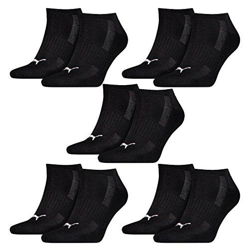 Puma 10 Paar Sneaker Socken mit Frottee-Sohle Gr. 35-46 Unisex Cushioned Kurzsocken, - Socken Frottee Puma Sneaker