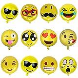 26 Stück Emoji Luftballon Wiederver...