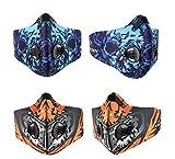 XM 2 Teile/paket Radfahren Gesichtsschutz Fahrrad MTB Reit Maske Sport Im Freien Warme Aktivkohle Staubdicht anti-haze PM2.5 Gesichtsmaske (blue orange)