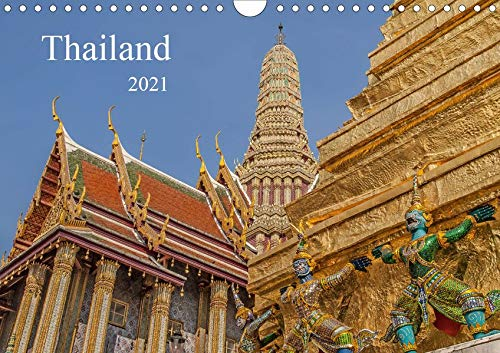 Thailand (Wandkalender 2021 DIN A4 quer): Buddhistische Tempel in Thailand (Monatskalender, 14 Seiten ) (CALVENDO Orte)