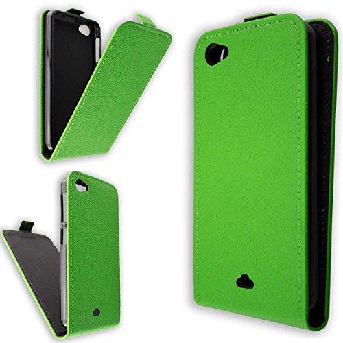 caseroxx Hülle/Tasche Flip Cover passend für Wiko Jimmy, Schutzhülle (Handytasche klappbar in grün)