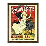 Doppelganger33 LTD Stage Garden Concert Champs-Elysees Paris France Vintage Large Framed Art Print Poster Wall Decor 18x24 inch Supplied Ready to Hang
