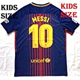 Shamyaan Messi Jersey 2017 - 2018 - Barcelona FCB Home #10 Jersey Kit For Kids - Youth Sizes For Boys & Girls - New Latest Season 2017/18 FCB Home Jersey Of Lionel Messi Of Barca FC - Replica Design