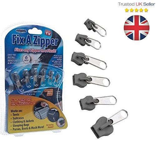 Gadget Zone Uk 6 Pieces Fix A Zipper Zip Slider Repair Instant