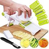 Mandolinas Cortador De Verdura,9 en 1 Corta Verduras y frutas,cortadora de queso y zanahorias,5...