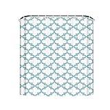 Best Maytex Curtain Rods - Shengpeng Quatrefoil Shower Curtains Ployester Soft Light Blue Review