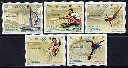 Fujeira 1971 Munich Olympics set of 5 u/m (Mi 748-52A) SPORT OLYMPICS JandRStamps (660) -