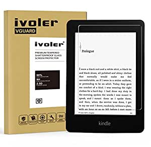 Kindle Paperwhite Pellicola Protettiva, iVoler® Pellicola Protettiva in Vetro Temperato per Kindle Paperwhite 6.0'' / ( 2014/ 7th Gen) - Vetro con Durezza 9H, Spessore di 0,3 mm,Bordi Arrotondati da 2,5D-Shockproof, Trasparenza ad alta definizione, Facile da installare- Garanzia a vita