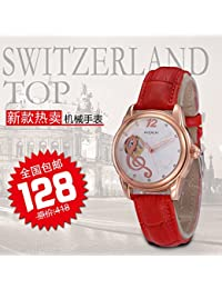 New hot ladies watch Girls table automatic mechanical watch waterproof hollow diamond watches Strap Watch