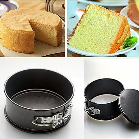 aliciashouse 3pollici antiaderente torta Pan favose acciaio vivono ancora inferiore Cake Pans Mold