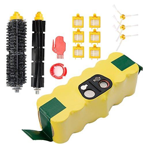 Horleora 3000 mah roomba batteria di ricambio + spazzole kit parti di ricambio per irobot roomba 700 series