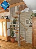 Raumspartreppe / Spindeltreppe / Wendeltreppe Sidney decor silber DM 160 cm