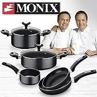 Monix Resistent Plus Bateria de Cocina de 5 Piezas y Lote de 2 sartenes de 20