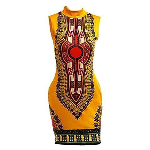 Fami Mode féminine manches africaine Imprimer Hip Cheongsam Hauts Casual