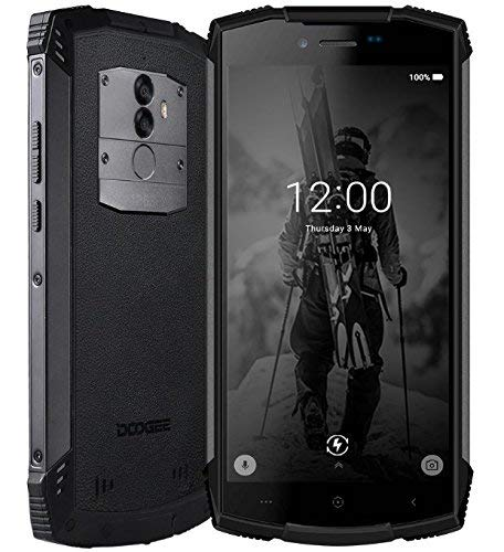 Robustes Handy 4G, DOOGEE S55 Outdoor Smartphone ohne Vertrag, Rugged Telephone Portable stoßfest staubdicht IP68 wasserdicht, 5.5 Zoll, 5500mAh, 4+64GB, Android 8,0 Dual SIM Mobile außen, schwarz