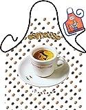 Witzige Schürze mit Motiv - Espresso, Kaffee - Grillschürze, Kochschürze, Backen, Geschenk, Geburtstag - Mit Mini Schürze