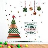 Cartoon Weihnachtsbaum Wandaufkleber wohnzimmer kinderzimmer Schlafzimmer Schaufenster Fensterglas Vinyl Aufkleber Kunst Weihnachten Neujahr Wandbilder 96x100 cm