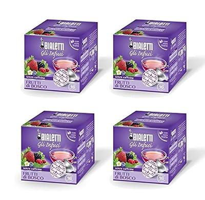 Bialetti Capsules Infusion Fruits Rouges - Set de 4 paquets de 12 capsules Violet