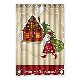 Blau nahtlose Muster mit Bunt Weihnachten Sterne wasserdicht Polyester Stoff Badezimmer Duschvorhang (48