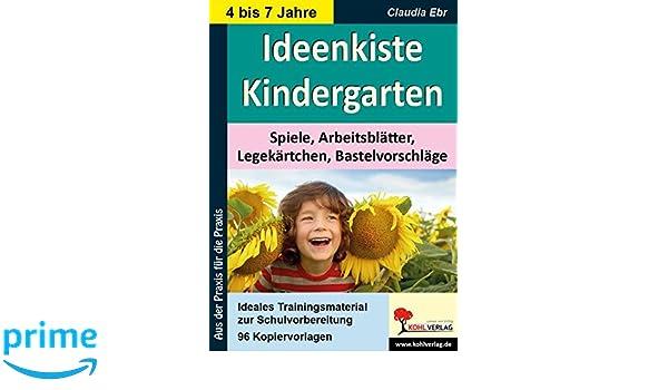 Ideenkiste Kindergarten Spiele, Arbeitsblätter, Legekärtchen und ...