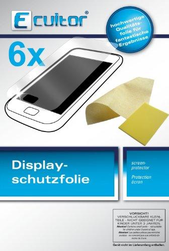 Ecultor Alcatel One Touch Idol 2 Mini S Schutzfolie (6 Stück) inkl. Tuch und Rakel - klare Premium Folie als Displayschutz