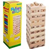 48 Large-Scale Digital Laminated Wood Blocks Jenga High Casual Wooden Toys - 2724634188108