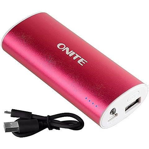 Onite Batería Externa 5600mAh, Power bank, Batería portatil,USB Cargador ,Batería Portátil para iPhone iPad iPod Tablets Teléfono inteligente Móvil MP3 MP4 PSP GPS Samsung Android … (rosa)