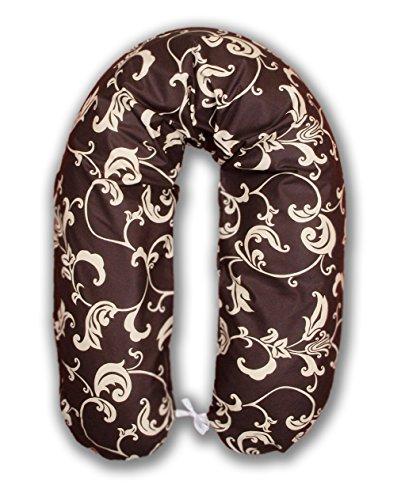 amilian-stillkissen-lagerungskissen-seitenschlaferkissen-inkbezug-170cm-neu-xxl-baby-schokolade