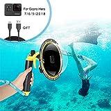 Dome Port Boîtier étanche pour GoPro Hero 7 6 5 2018, Boîtier étanche pour GoPro...