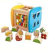 Attività di legno Cubi Forme di smistamento, Xilofono, Abaco, Giocattoli di Sviluppo Precoce per i più Piccoli