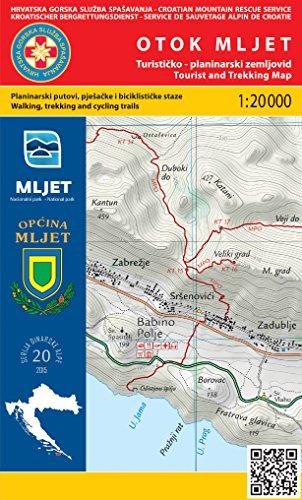 Otok Mljet 1:20.000 carte de randonnée (Croatie)