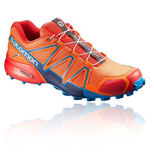 Salomon 4, Speedcross 4 Chaussures de Course à Pied et Randonnée Homme, Multicolore (Scarlet Ibis/Hawaiian Sury/Fiery Red), 42 2/3 EU
