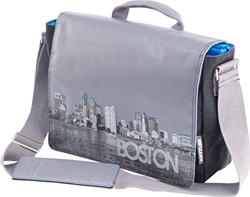 Kettler Boston Messenger Bag/Fahrradtasche mit Click System für Fahrrad Rack Montage (Papier Verstärkungen)