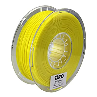 ZIRO 3D Printer Filament PLA 1.75 1KG(2.2lbs), Dimensional Accuracy +/- 0.05mm, Yellow