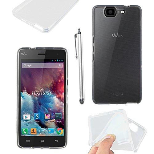 ebestStar - Wiko Highway 4G Hülle Handyhülle [Ultra Dünn], Premium Durchsichtige Klar TPU Schutzhülle, Soft Flex Silikon + Stift, Transparent [Phone: 144 x 70 x 7.3mm, 5.0'']