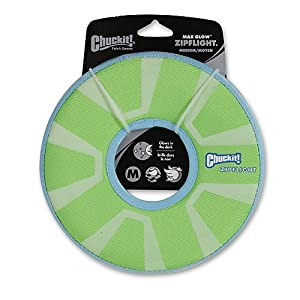 CHUCKIT Zipflight Max Glow Fetch Toy 8